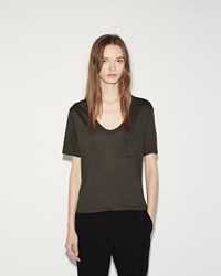 Alexander Wang Cropped Tee Forest