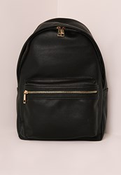 Missguided Sports Luxe Rucksack Black Black