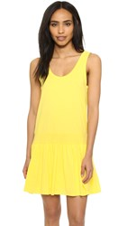 Clu Too Rib Paneled Tank Dress Yellow