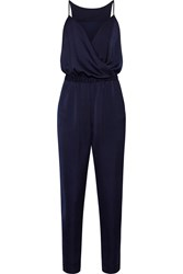Iris And Ink Alice Draped Washed Satin Jumpsuit