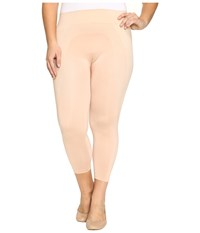 Hue Plus Size Seamless Shaping Capris Ballet Women's Capri Brown