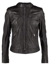 Oakwood Leather Jacket Gris Fonce Grey