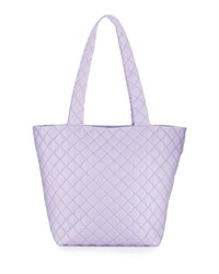 Neiman Marcus Sutton Quilted Nylon Tote Bag Lilac Purple