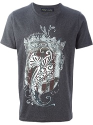 Etro Coat Of Arms Print T Shirt Grey