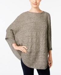 Styleandco. Style Co. Knit Pattern Poncho Sweater Only At Macy's Hammock Heather