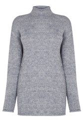 Warehouse Cosy Oversized Tunic Light Grey