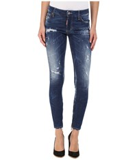 Dsquared Perfetto Wash Medium Waist Skinny Jeans In Blue