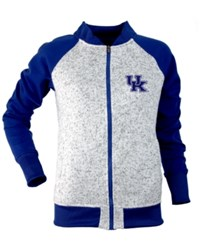 Antigua Women's Kentucky Wildcats Visitor Full Zip Jacket Gray Royalblue
