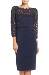 Adrianna Papell Women's Lace And Jersey Sheath Dress
