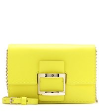 Roger Vivier Viv' Icon Micro Leather Shoulder Bag Yellow