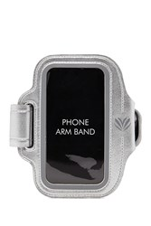 Forever 21 Active Metallic Phone Armband Silver