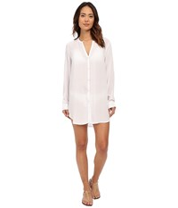Lauren Ralph Lauren Cocktail Shirt Tail Tunic Cover Up White Women's Swimwear