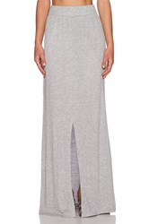 Lna Gauze Column Skirt Gray