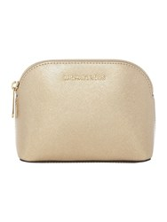 Michael Kors Cindy Gold Cosmetic Bag Gold