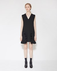 Marni Ruffle Pocket Dress Black