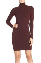 French Connection Women's 'Sweeter' Turtleneck Sweater Dress Zinfandel