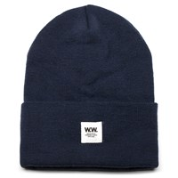 Wood Wood Navy Tall Beanie Blue