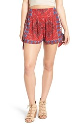 Band Of Gypsies Women's Scarf Print Woven Shorts