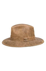Stetson Leather Outback Hat Hickory