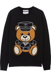 Moschino Intarsia Wool Sweater Black