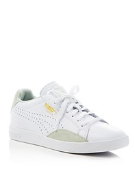 Puma Match Lo Basic Sports Lace Up Sneakers White Green