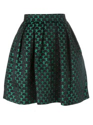 Mary Katrantzou Mini Cloud Print 'Algernon' Skirt Green