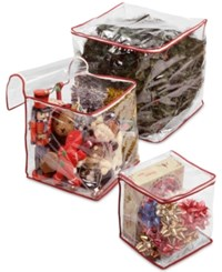 National Tree Company Set Of 3 Heavy Duty Clear View Holiday Storage Bags