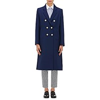 Harvey Faircloth Women's Double Breasted Coat Blue