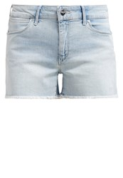 Wrangler Denim Shorts Blue Marine Bleached Denim