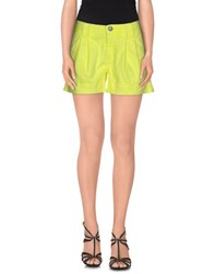 Jeckerson Denim Denim Shorts Women Yellow