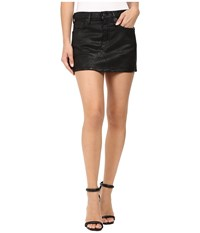 A Gold E Jeanette Mini Skirt In Coated Black Coated Black Women's Skirt