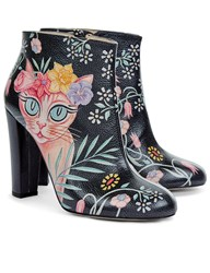 Camilla Elphick Black Country Cat Ankle Boots