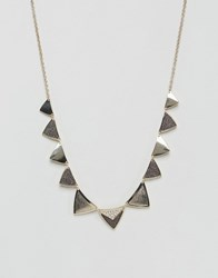 Oasis Diamond Dust Triangle Necklace Gold