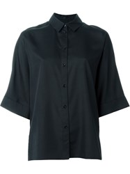 Joseph Three Quarter Sleeve Shirt Black