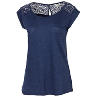 Fat Face Linen Laverton T Shirt Indigo
