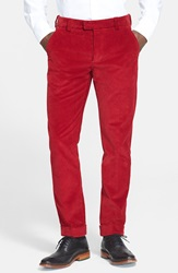 Michael Bastian Wide Wale Corduroy Pants Red