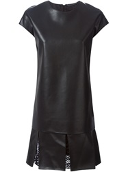 Ermanno Scervino Embellished Details Leatherette Dress Black