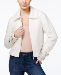 Guess Nell Faux Fur Contrast Jacket Macadamia