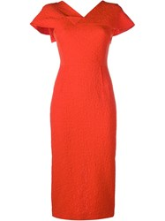 Roland Mouret Dunmore Midi Dress Red