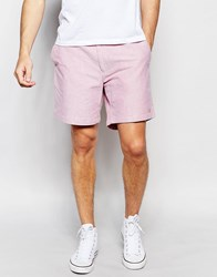 Farah Chino Shorts In Oxford Cotton Red