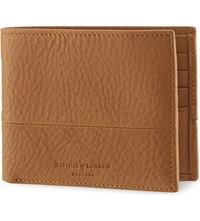 Aspinal Of London Shadow Bi Fold Leather Wallet Tan