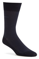 Men's Boss 'David' Herringbone Socks Blue Navy