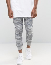 Pull And Bear Pullandbear Skinny Fit Camo Joggers In Grey Grey