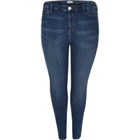 River Island Womens Ri Plus Dark Blue Wash Molly Jeggings