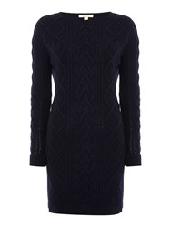Barbour Tidewater Knit Dress Navy