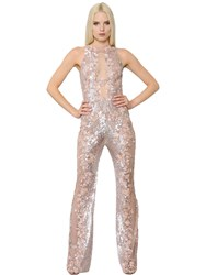 Zuhair Murad Sequined And Beaded Tulle Jumpsuit