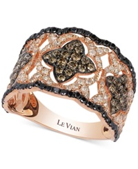 Le Vian Diamond Vintage Inspired Ring In 14K Rose Gold 1 1 3 Ct. T.W.