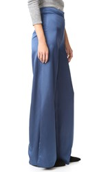 Re Named Wide Leg Pants Slate Blue