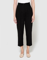 Margaret Howell Pleat Pocket Trouser In Black