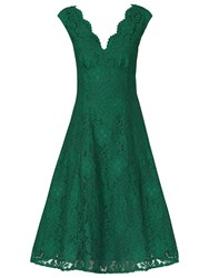 Jolie Moi Scalloped Lace Prom Dress Green